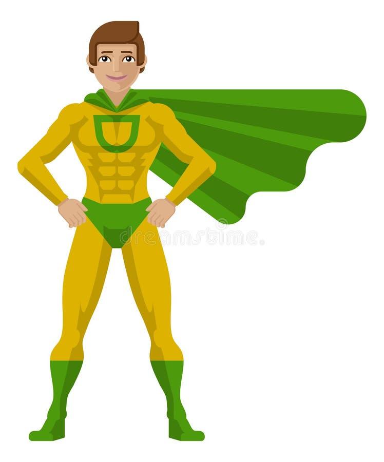 Fumetto dell'uomo del supereroe illustrazione di stock