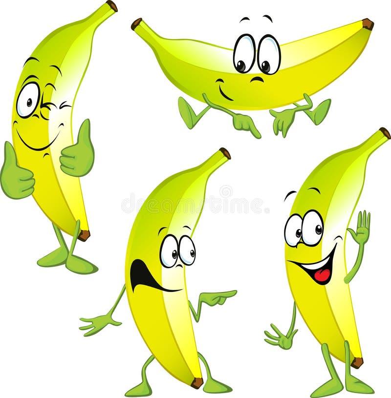 Fumetto della banana illustrazione di stock