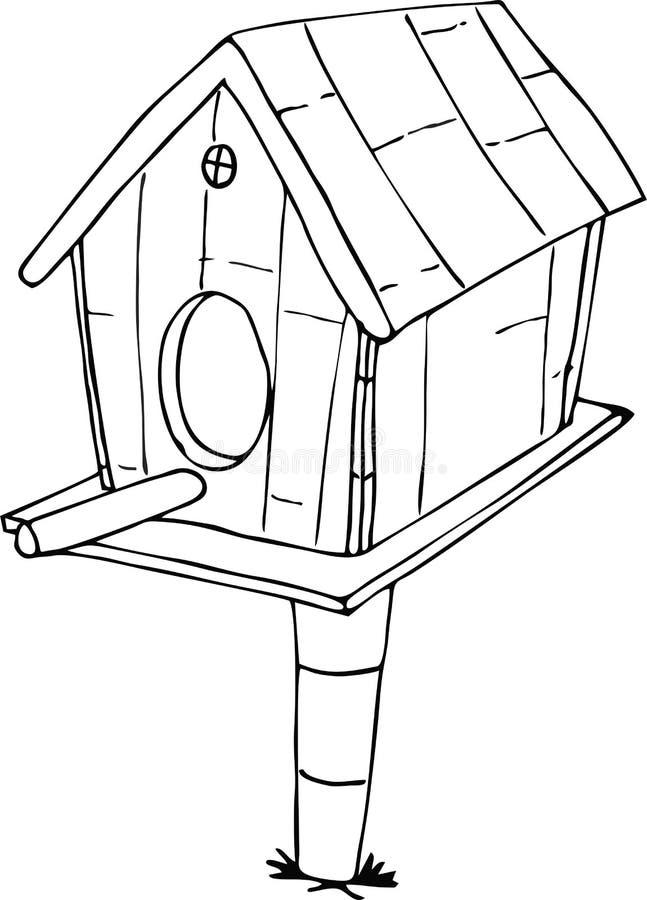 Fumetto della Camera dell'uccello di scarabocchio royalty illustrazione gratis
