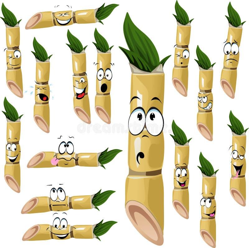 Fumetto della canna da zucchero royalty illustrazione gratis