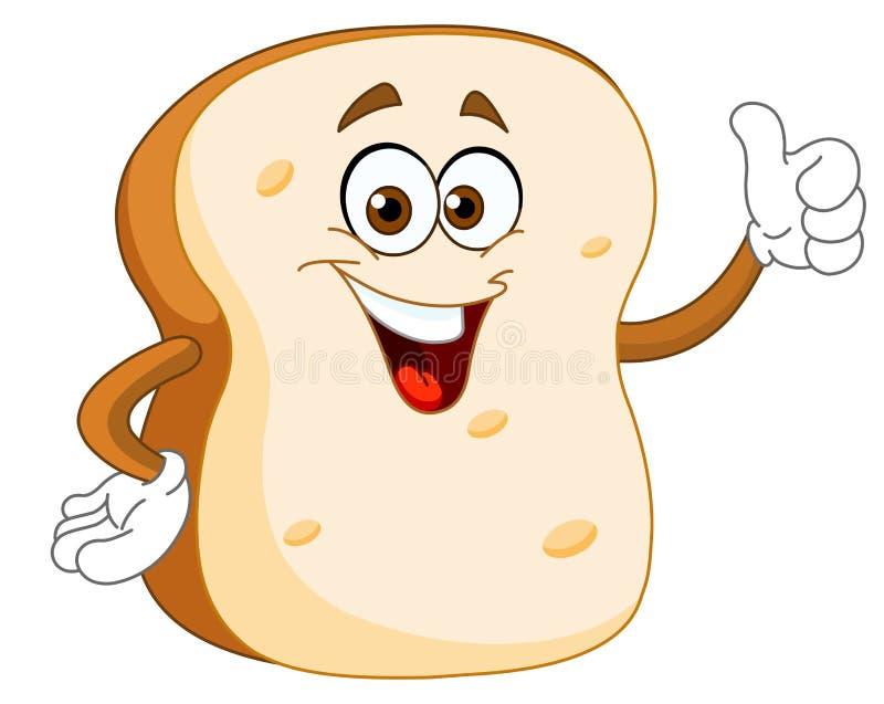 Fumetto della fetta del pane illustrazione vettoriale