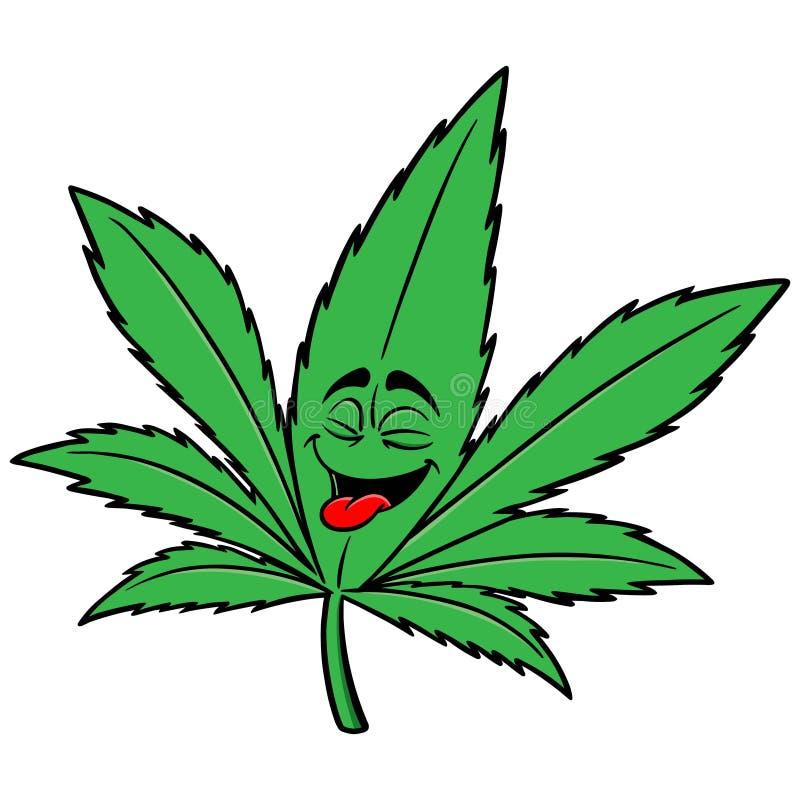 Fumetto della marijuana illustrazione vettoriale