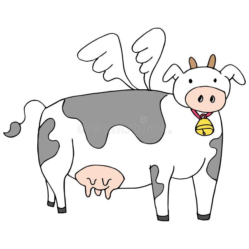Fumetto della mucca di volo royalty illustrazione gratis