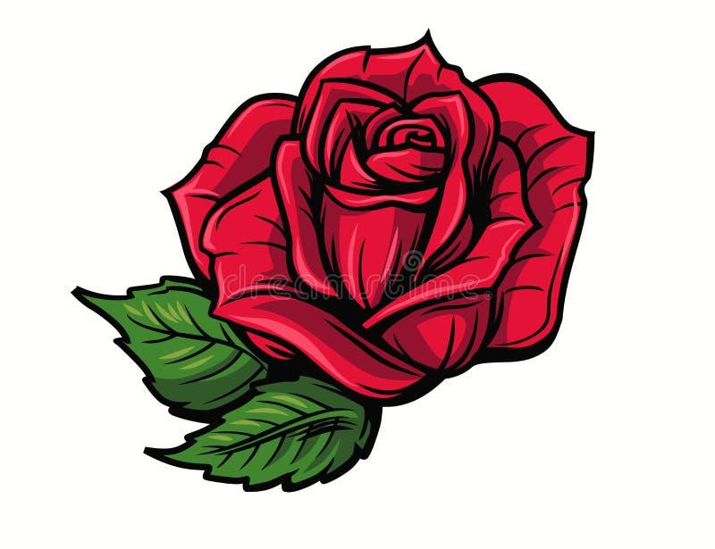 Fumetto della rosa rossa illustrazione vettoriale