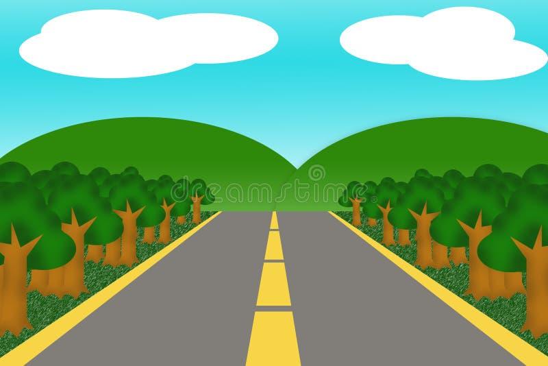 Fumetto della strada illustrazione vettoriale