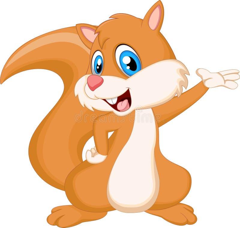Fumetto dello scoiattolo per voi progettazione royalty illustrazione gratis