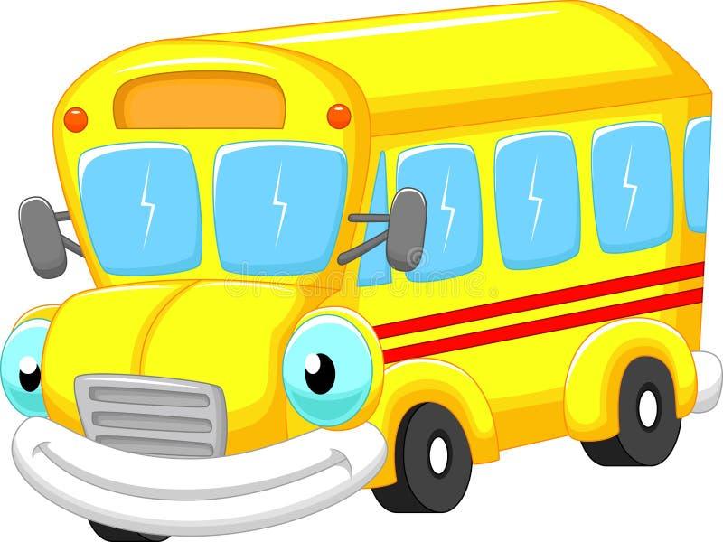 Fumetto dello scuolabus royalty illustrazione gratis