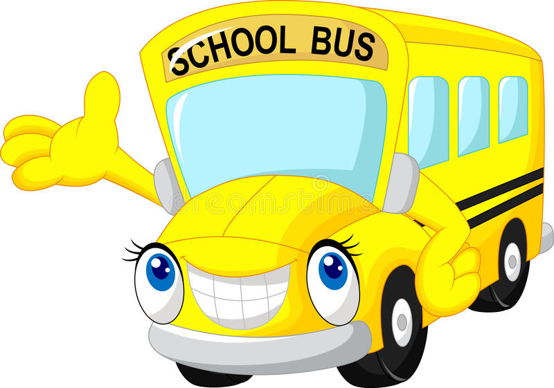Fumetto dello scuolabus illustrazione di stock