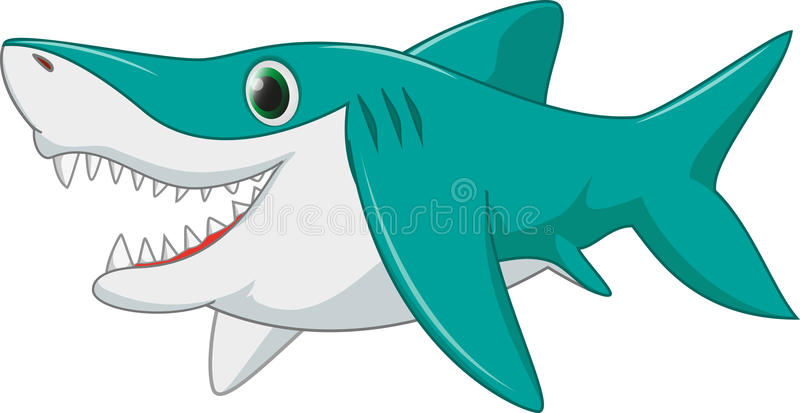 Fumetto dello squalo fotografia stock libera da diritti