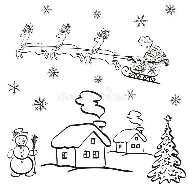 Fumetto di Natale di festa illustrazione di stock