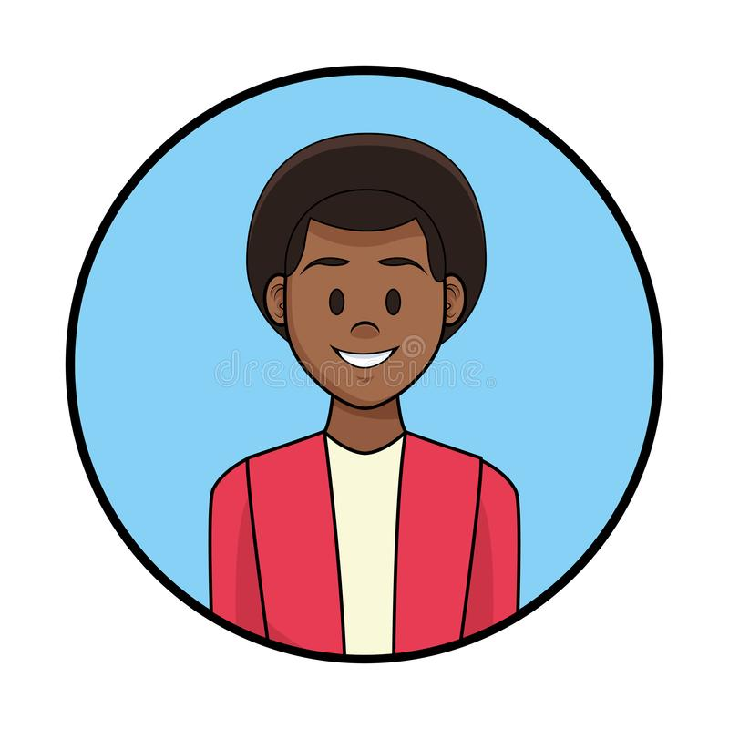 Fumetto di profilo dell'uomo royalty illustrazione gratis