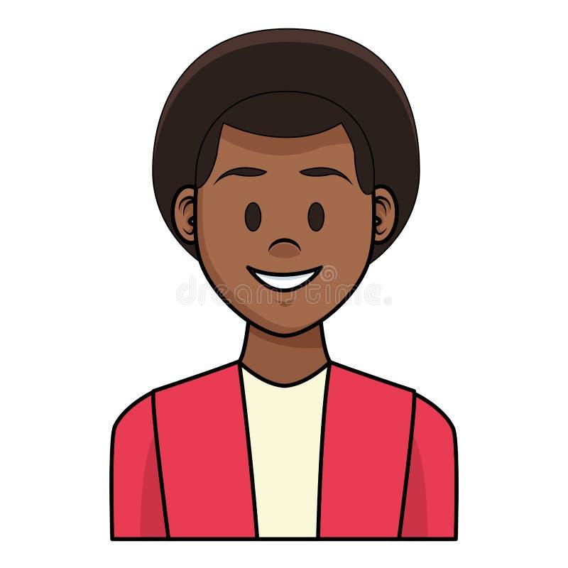 Fumetto di profilo dell'uomo illustrazione vettoriale