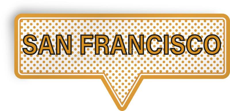 Fumetto di San Francisco isolato su bianco royalty illustrazione gratis