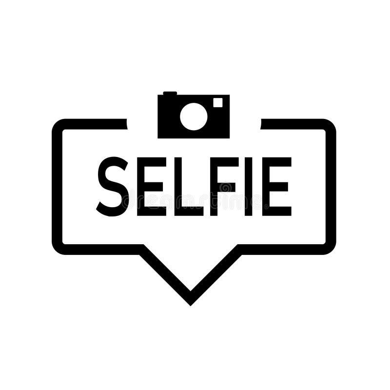Fumetto di Selfie con l'icona, isolata Progettazione piana su fondo bianco illustrazione vettoriale