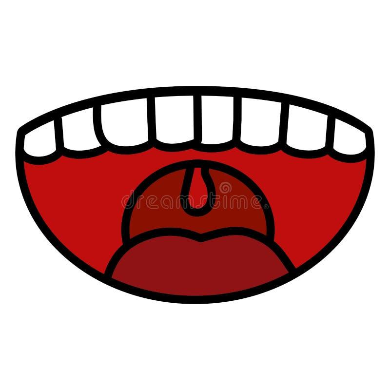 Fumetto di sorriso di risata illustrazione di stock