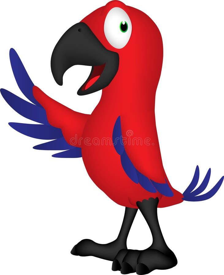 Fumetto di uno schiamazzo del pappagallo illustrazione vettoriale