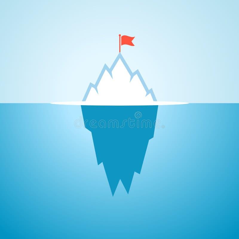 Fumetto di vettore dell'iceberg illustrazione di stock