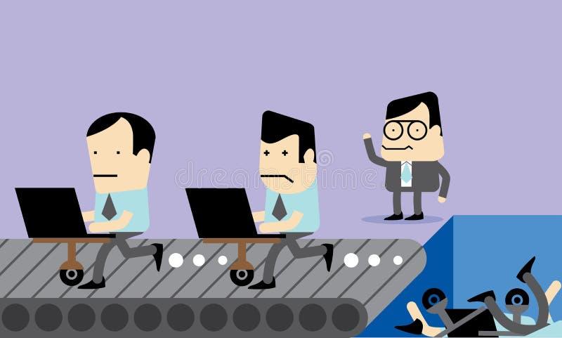 Fumetto di vettore di selezione degli impiegati illustrazione di stock