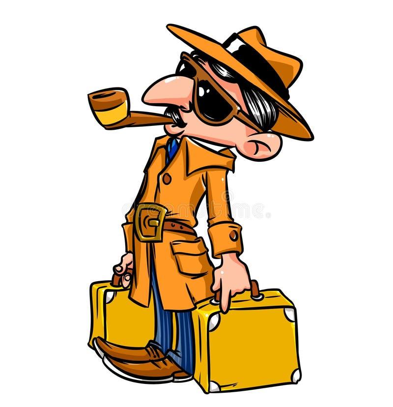 Fumetto di viaggio di dovere di missione dell'uomo di affari royalty illustrazione gratis