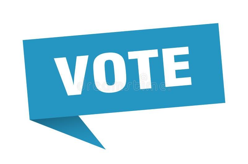 fumetto di voto illustrazione vettoriale