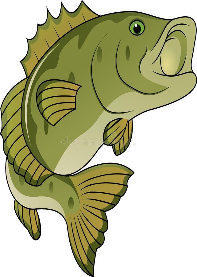 Fumetto divertente dei pesci illustrazione vettoriale
