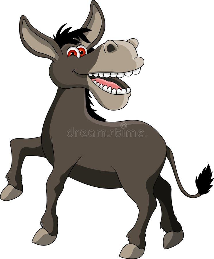 Fumetto divertente dell'asino royalty illustrazione gratis