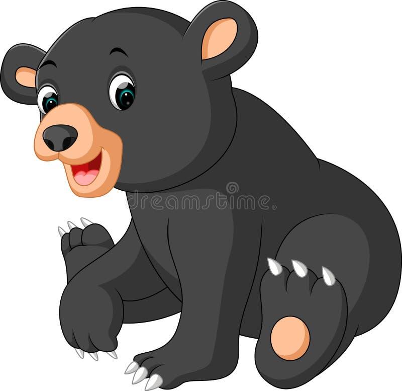 Fumetto divertente dell'orso illustrazione di stock