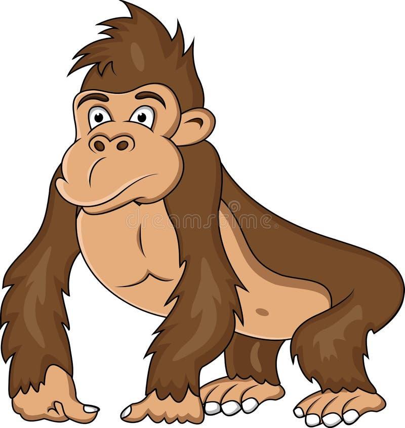 Fumetto divertente della gorilla royalty illustrazione gratis