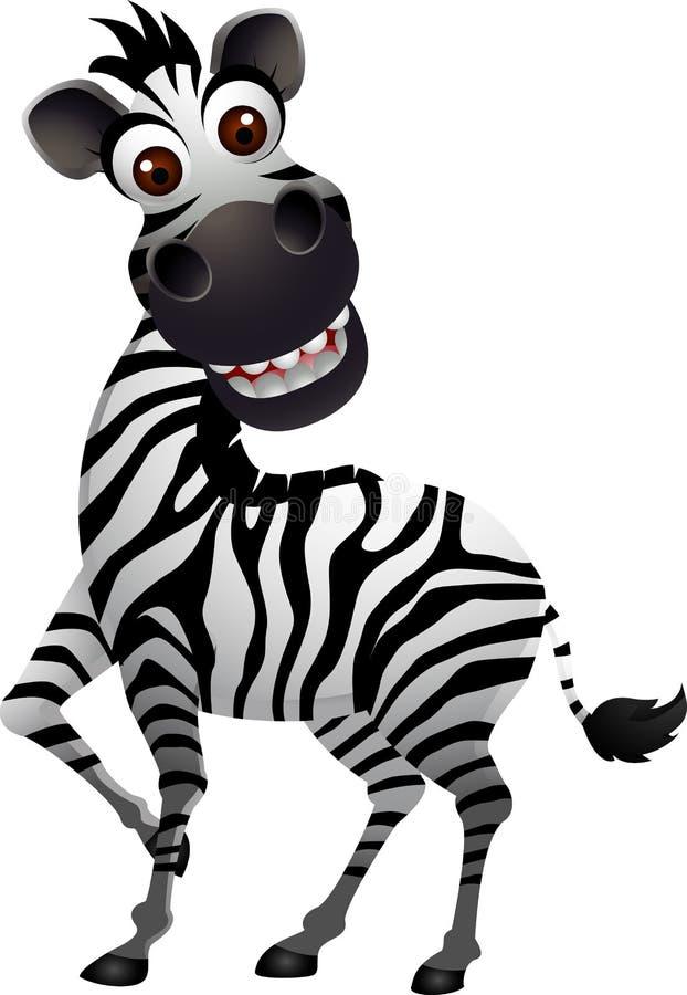 Fumetto divertente della zebra illustrazione vettoriale