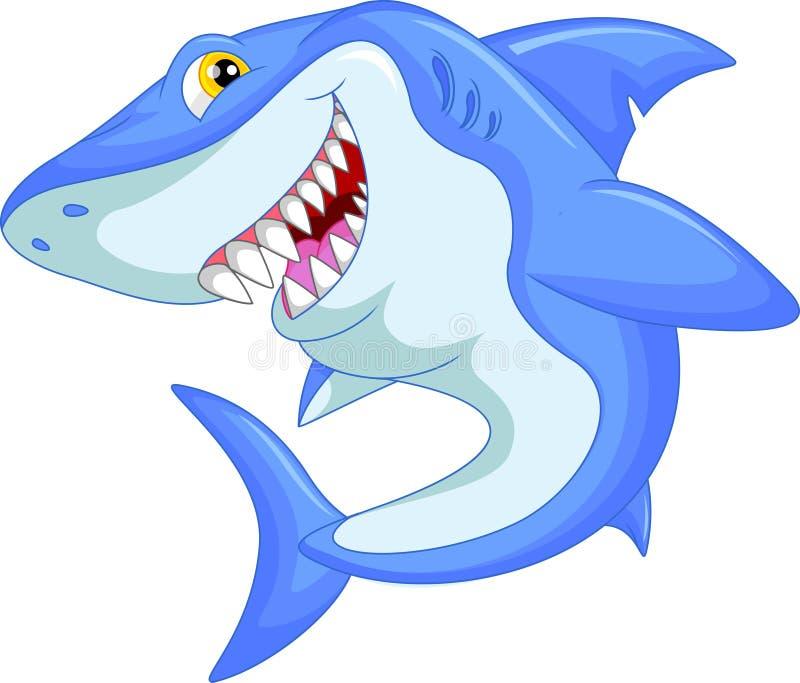 Fumetto divertente dello squalo illustrazione di stock