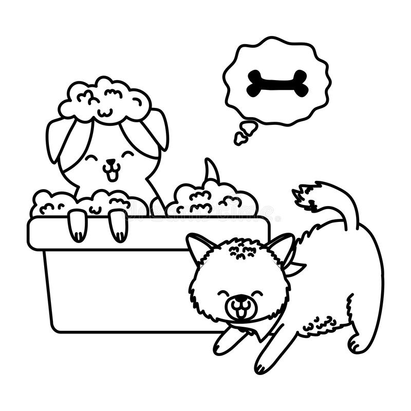 Fumetto divertente sveglio degli animali domestici illustrazione di stock