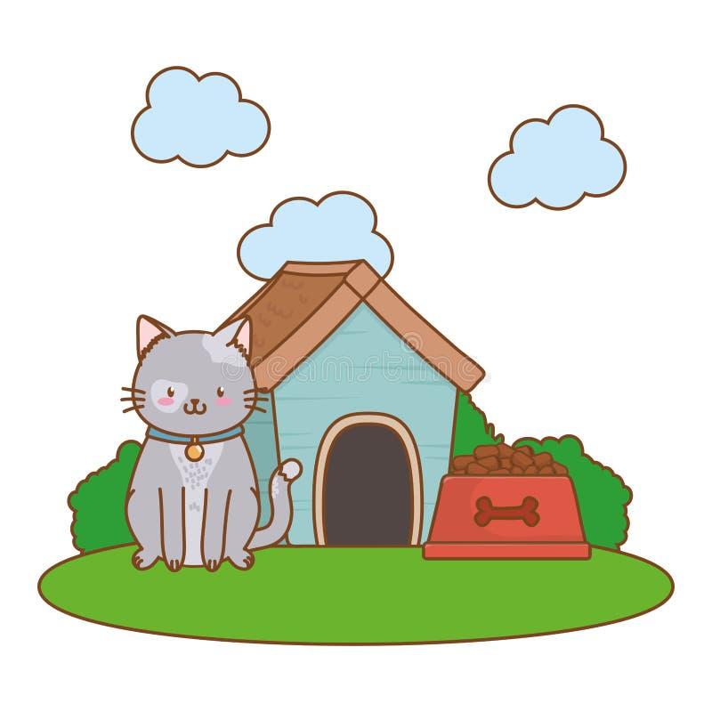 Fumetto divertente sveglio dell'animale domestico royalty illustrazione gratis