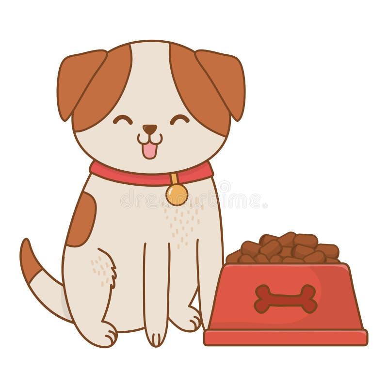 Fumetto divertente sveglio dell'animale domestico illustrazione di stock