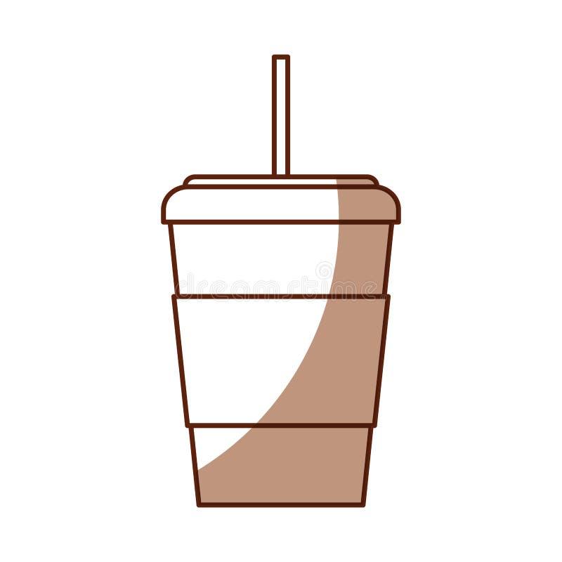 Fumetto eliminabile della tazza di caffè dell'ombra illustrazione di stock