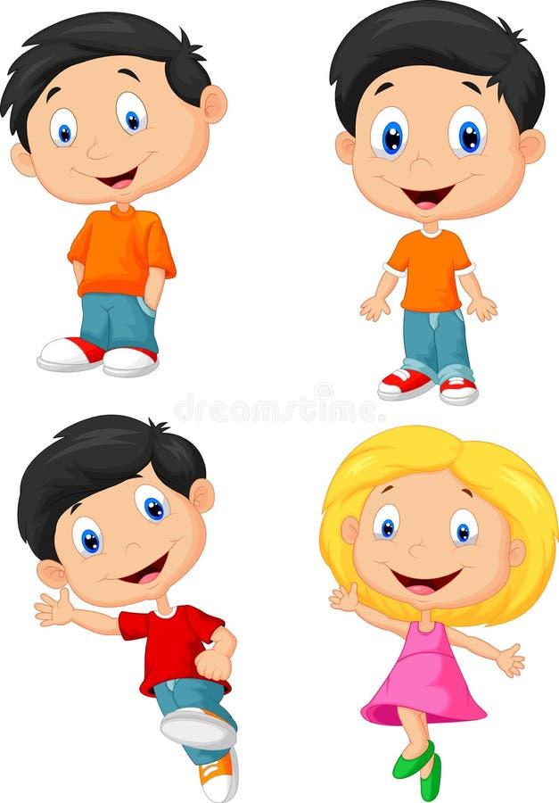 Fumetto felice dei bambini royalty illustrazione gratis