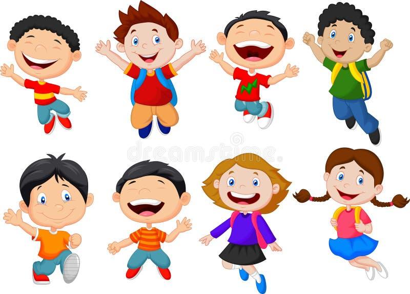 Fumetto felice dei bambini illustrazione vettoriale