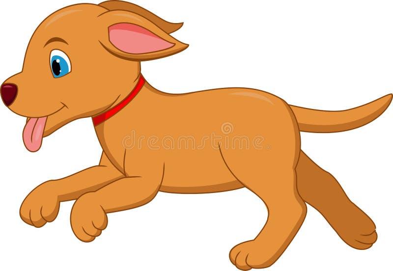Fumetto felice del cane illustrazione di stock