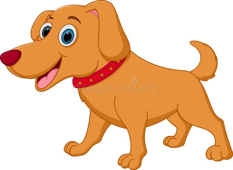 Fumetto felice del cane illustrazione vettoriale