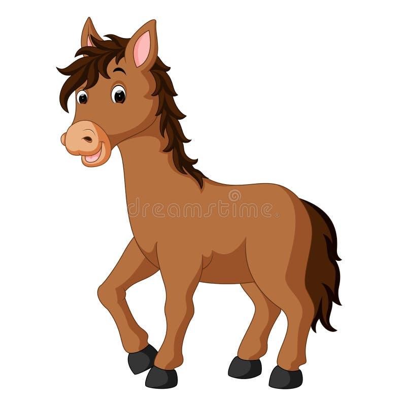 Fumetto felice del cavallo illustrazione di stock