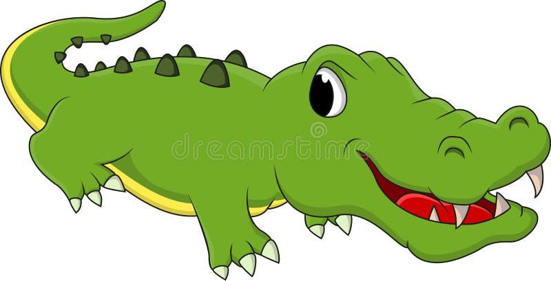 Fumetto felice del coccodrillo di divertimento royalty illustrazione gratis