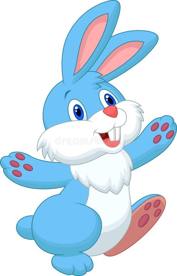 Fumetto felice del coniglio illustrazione di stock