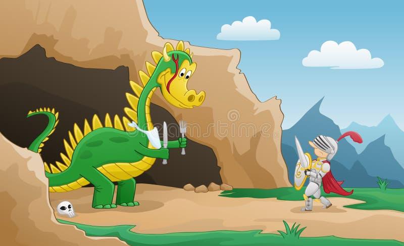 Fumetto felice del drago royalty illustrazione gratis