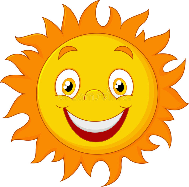 Fumetto felice Sun royalty illustrazione gratis