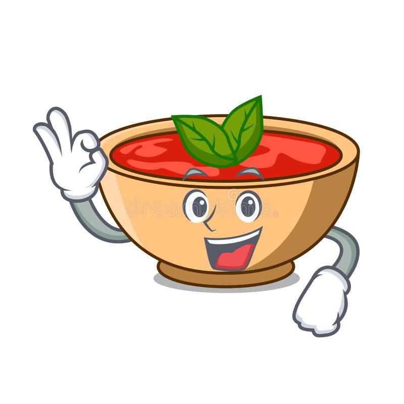 Fumetto giusto del carattere della minestra del pomodoro royalty illustrazione gratis