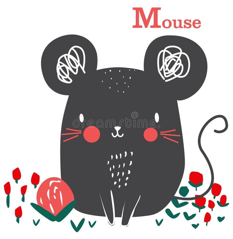 Fumetto grafico del topo sveglio per arte del bambino royalty illustrazione gratis