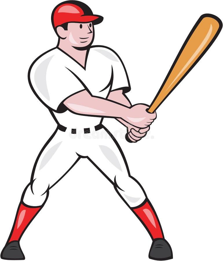 Fumetto isolato ovatta del battitore di baseball royalty illustrazione gratis