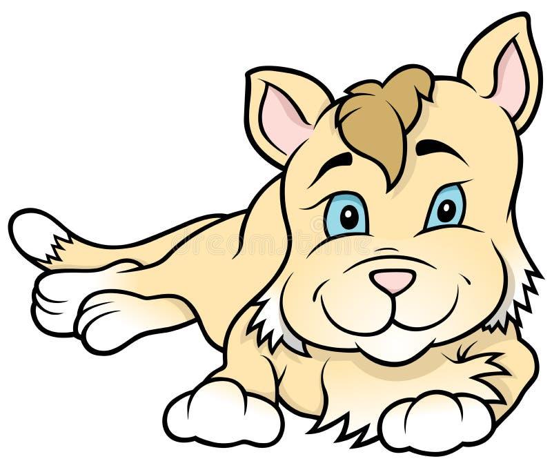 Fumetto Kitten Laying illustrazione di stock