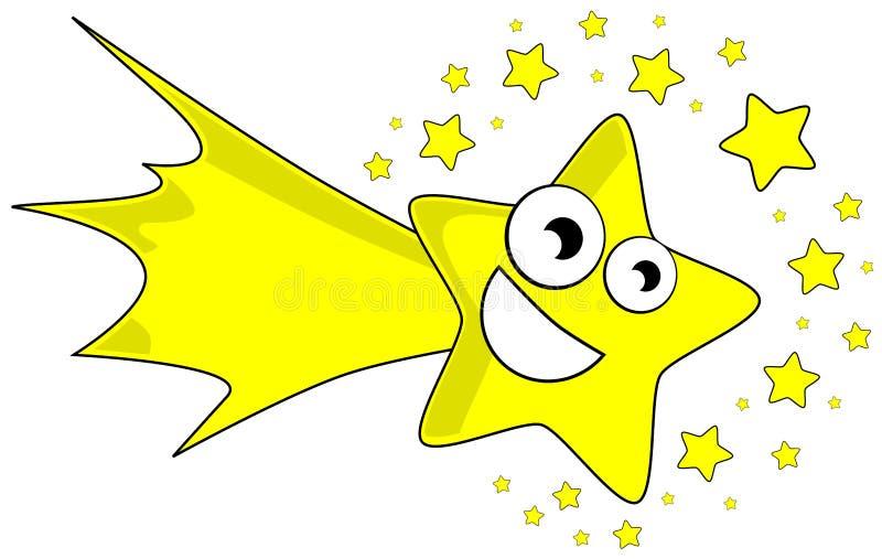 Fumetto piacevole della stella cadente illustrazione di stock