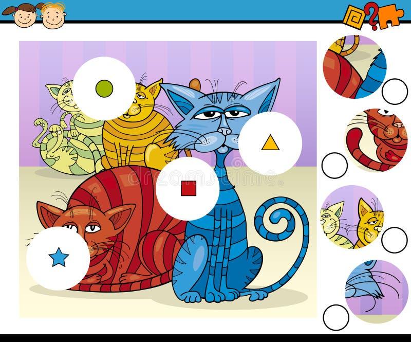 Fumetto prescolare educativo del gioco illustrazione vettoriale