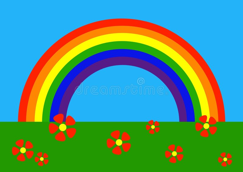 Fumetto: Rainbow illustrazione di stock